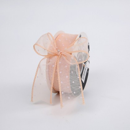 SHIOK 4cmx15yard Dotted Bohemia Fabric Ribbon Wrap Wrapping Gift/Decoration and Bouquet Flowers RB0171