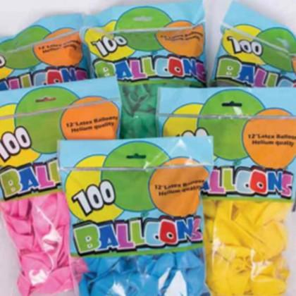 SHIOK 12 Inch Pearl Metallic Helium Latex Balloon (100pcs) For Decoration Celebration Party Birthday Wedding PT0034
