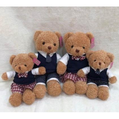 SHIOK 50cm Curly Teddy Bear With School Uniform For Kid Children Decoration Birthday Gift B1303SI