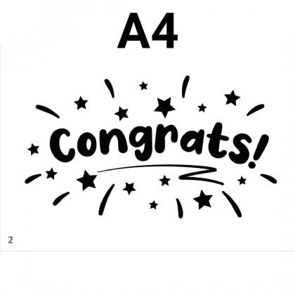 SHIOK A4 Bobo Balloon Sticker Congratulation GetWellSoon Anniversary Birthday GraduationDay ILoveYou ThankYou SK0101-07M