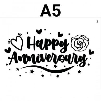 SHIOK A5 Bobo Balloon Sticker Congratulation GetWellSoon Anniversary Birthday GraduationDay ILoveYou ThankYou SK0101-07S