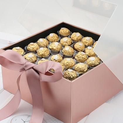 SHIOK 100pcs Ferrero Rocher PET Plastic Holder Accessories For Flower Arrangement Bouquet Flower Gift Packaging AC0088