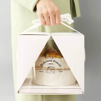 SHIOK Double-Flap Showcase Portable 6-inch Cake Box Kotak Kek BX1773