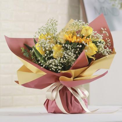 SHIOK Waterproof 2 Tone Ouya Bouquet Flower Wrapper For Bouquet Flower Gift Party Wedding Pembalut Kertas Bunga WP0143