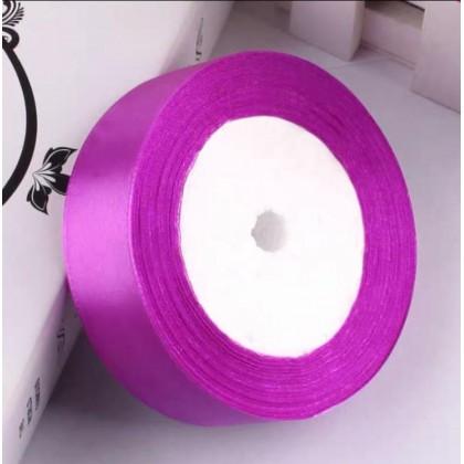SHIOK 2.5cmx25yard Satin Ribbon For Crafts Bow Handmade Gift Wrapping Hari Raya Wedding Decorative Ribbon RB0078