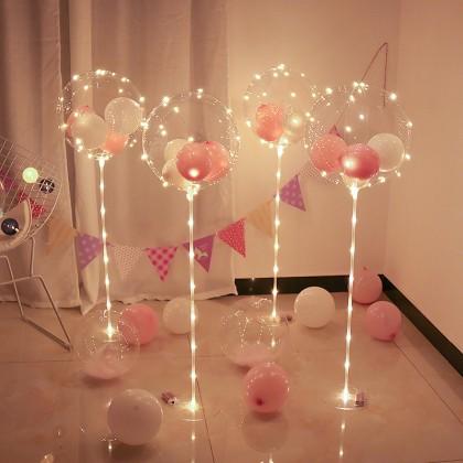 SHIOK 50pcs Clear Balloon Stick For Bobo/Foil Balloon 40/60/80cm PT0339/1159/0225