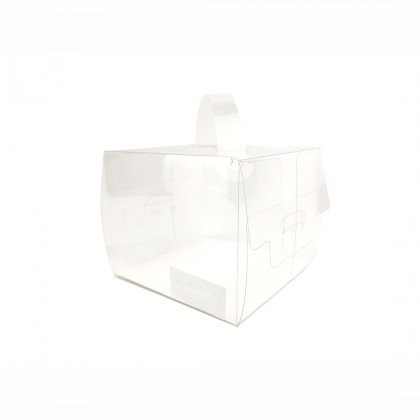 SHIOK Decorative Transparent Carrying Flower Gift Box With 2 Compartment BX1557 / Cake Box (S/M) BX1698