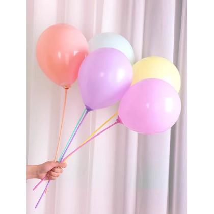 SHIOK 100pcs Latex Balloon Stick 40cm For Bobo/Foil Balloon PT0107