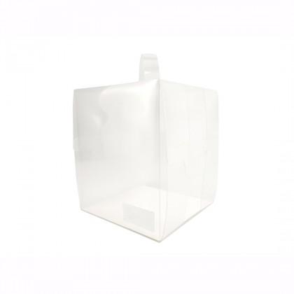 SHIOK 4/6/8 inch Portable Transparent Cake Box With White Base For Cake/Pastry/Gift Kotak Gubahan Kek BX1698